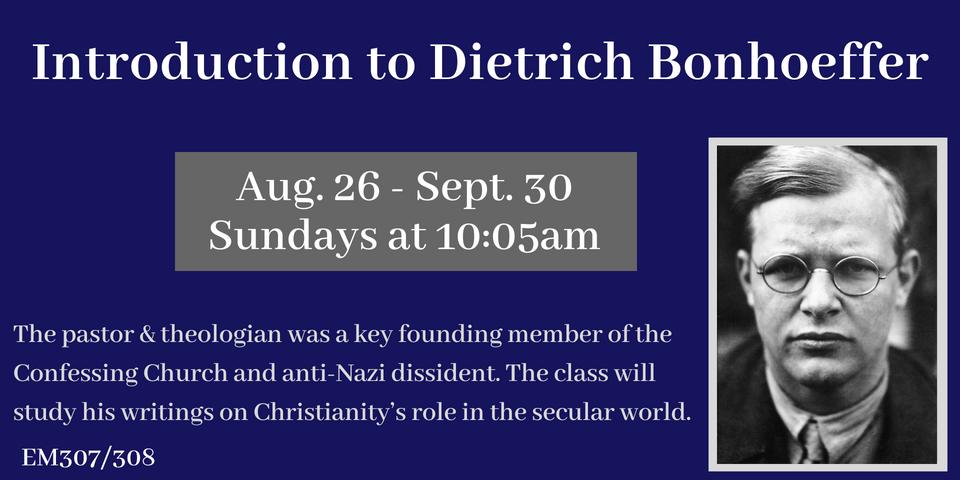 Bonhoeffer Class