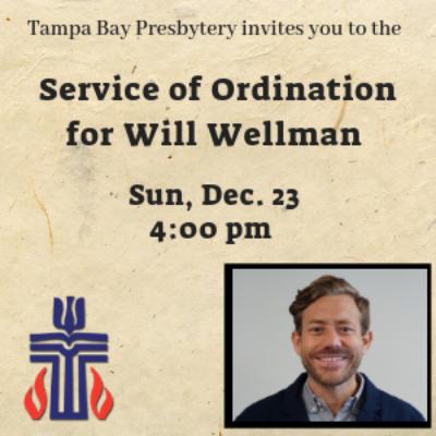 Will Wellman Ordination